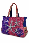 Canvas Starfish Beach Tote|Embroidered|Monogram