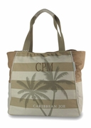 Caribbean Joe Stripe Beach Tote|Personalized