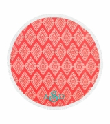 Circle Beach Towel Damask Pattern|Personalized