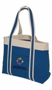 Colorful Deluxe Boat Tote with Gusset