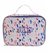 Confetti Dot Insulated Lunch Tote|Monogrammed