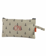 Embroidered Canvas Cosmetic Bag|Personalized