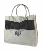 Embroidered Cotton Jute Tote Bag