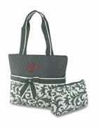 Embroidered Diaper Bag Floral