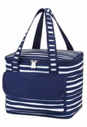 Embroidered Stripped Lunch Tote|Personalized