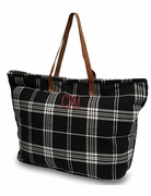 Embroidered Tartan Plaid Totes