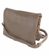 Faux Leather Carry-all Cross Body Bag