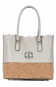 Faux Leather Carry All Tote Bag|Monogrammed