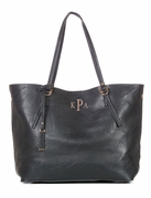 Faux Leather Tote Bag|Monogram|Personalized