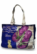 Flip Flop Beach Tote - Monogram|Embroidered