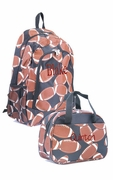Football Backpack with FREE Lunch Tote|Monogrammed