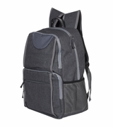 Grey Heathered Deluxe Backpack