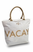 Jute VACAY Travel Bag|Personalized