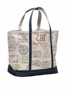 Large Canvas Travel Tote|Personalized|Monogram
