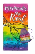Mermaid Cinch Sack with Beach Towel Personalized