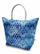 Mermaid Scales Metallic Beach Tote Bag