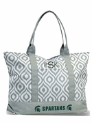 Michigan State Tote Bag|Monogram|Embroidered