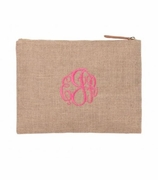 Monogram Accessory Bag -Seersucker