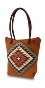 Monogram Aztec Carry All Tote Bag