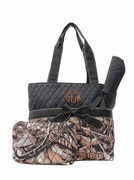 Monogram Camo Quilted Diaper Bag|Personalized
