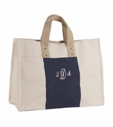 Monogram Canvas City Tote Bag|Embroidered
