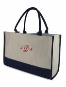 Monogram Canvas Color Block Tote|Personalized