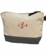 Monogram Canvas Cosmetic Bag - Deep Gray