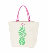 Monogram Canvas Pineapple Beach Tote