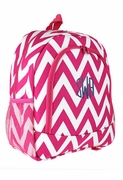 Monogram Chevron Backpack|Personalized