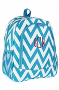 Monogram Chevron School Backpack|Personalized