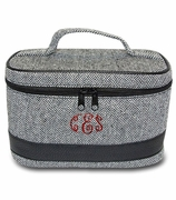Monogram Cosmetic Train Case|Herringbone