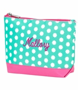 Monogram Floral Dot Cosmetic Bag