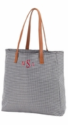 Monogram Houndstooth Open Tote Bag