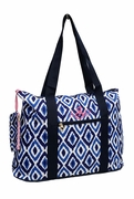 Monogram Ikat Travel Tote Bag