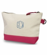 Monogram Make-up Bag Canvas|Color Block