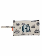 Monogram Nautical Navy Clutch