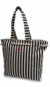 Monogram Navy Stripe Beach Tote
