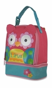 Monogram Owl Lunch Bag for Kids