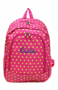 Monogram Polka Dot Backpack|Personalized