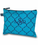 Monogram Quatrefoil Accessory Bag|Personalized