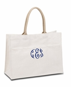 Monogram Wedding Tote Bags|Personalized