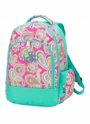 Monogrammed Backpack - Pink Paisley