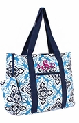 Monogrammed Floral Tote Bag|Personalized