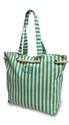 Monogrammed Striped Beach Bag - Personalized|Mint