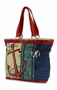Nautical Anchor Canvas Boat Tote|Monogrammed