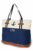 Nautical Anchor Tote Bag|Personalized