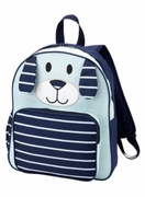 Navy Puppy Boys Monogrammed Backpack