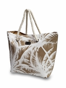 Palm Pattern Summer Beach Tote