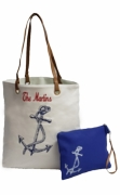 Personalized Beach Tote Bags - 2 piece set