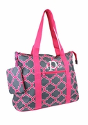 Personalized Geometric Carry All Tote|Monogrammed